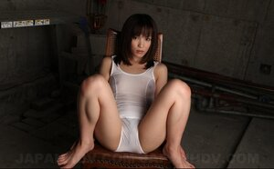 It isn't a hard thing for deluxe Japanese gal to show breasts sitting on chair