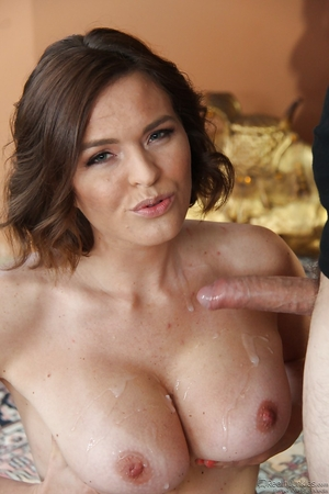 Hot MILF Krissy Lyn gives skater guy that lives not far away a blowjob at home